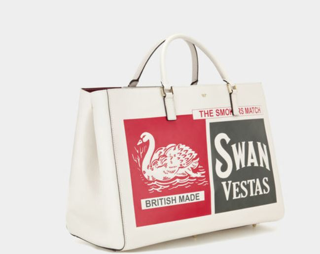 Borse anya hindmarch swan and vesta maxi featherweight for Saldi thun amazon
