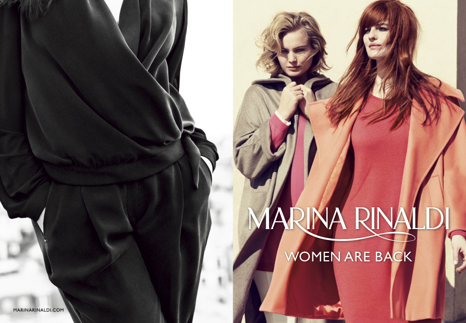 Campagna pubblicitaria Marina Rinaldi 2015 autunno inverno b91d6ac2209