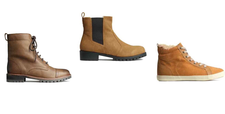 H&M, scarpe uomo autunno inverno 2014 2015, foto catalogo