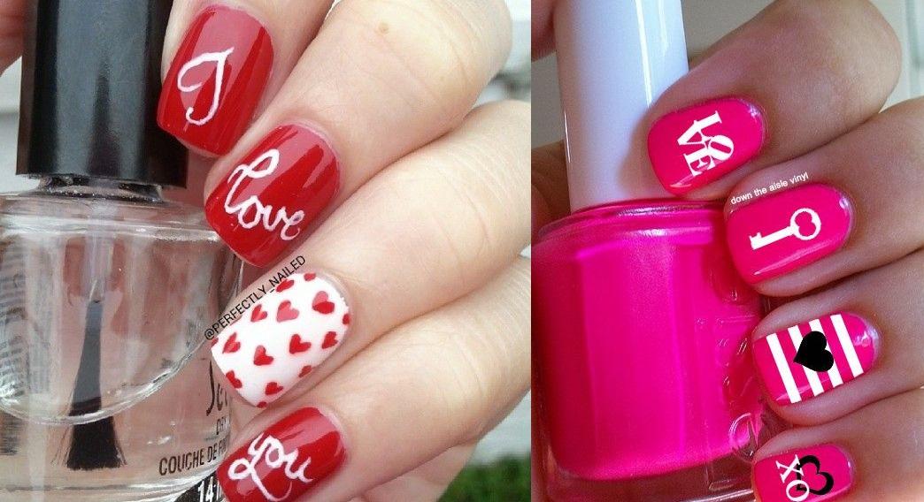 Facile nail art unghie san valentino 2015 smodatamente - Decori per san valentino ...