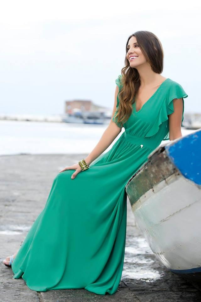 a04796ec124b Abiti Da Cerimonia Lunghi Verde Acqua Cannella collezione abbigliamento  primavera estate ...