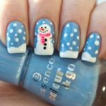 Nail Art Natale 2017 neve