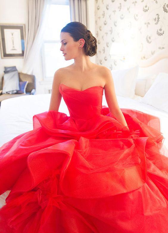 abiti da sposa 2017 colorati rosso