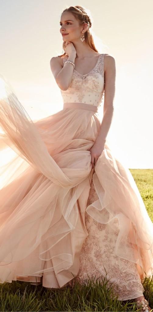 abiti da sposa 2017 colorati rosa