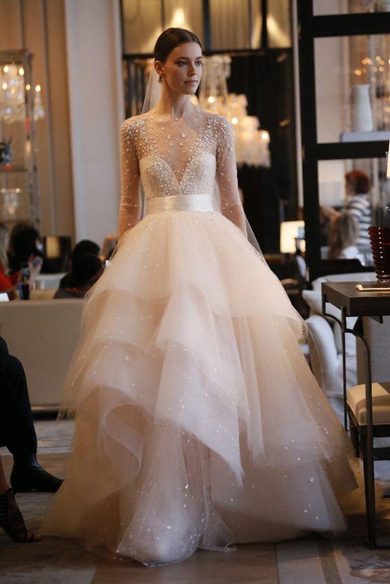 abiti da sposa 2017 con maniche pizzo
