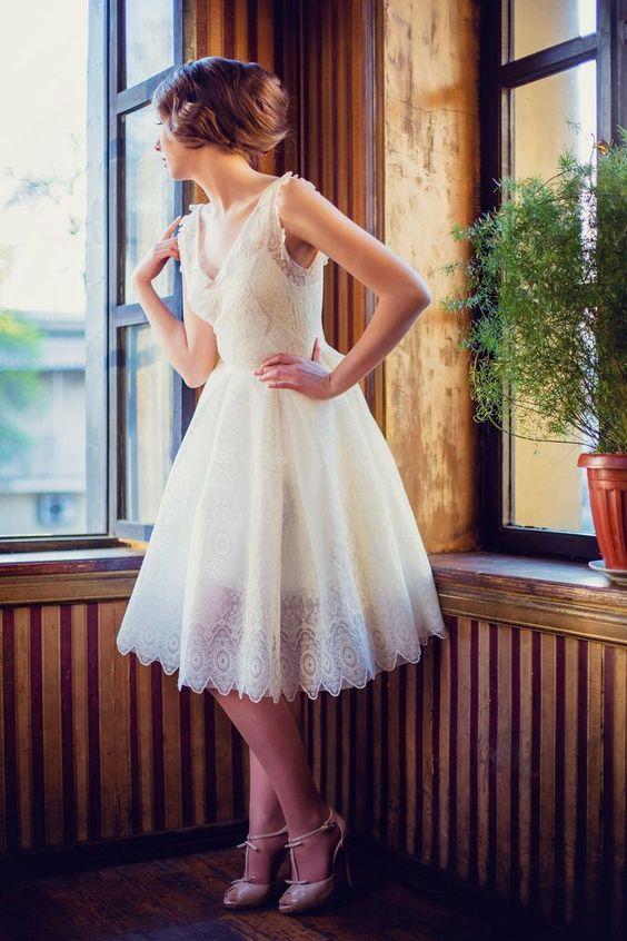 abiti da sposa corti 2017