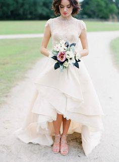 abiti da sposa 2017 corti davanti lunghi dietro