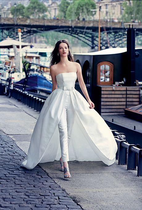 abiti da sposa 2017 pantaloni strascico