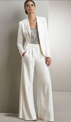 abiti da sposa 2017 pantaloni giacca