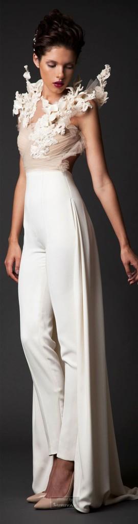 abiti da sposa 2017 pantaloni elegante