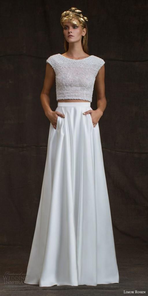 abiti da sposa 2017 con tasche
