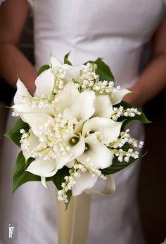 bouquet sposa bianchi calle