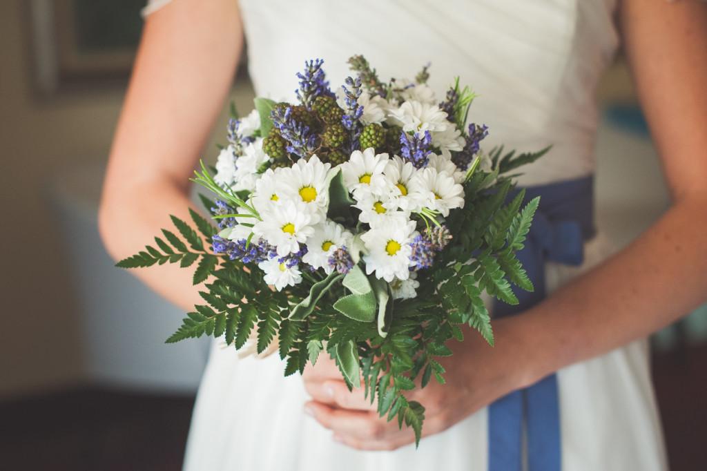 bouquet sposa lavanda margherite