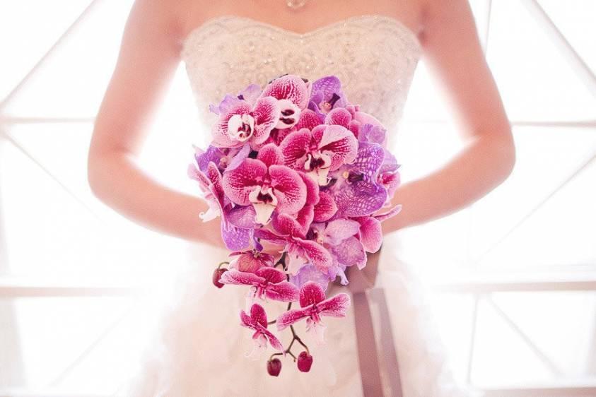 bouquet orchidee rosa