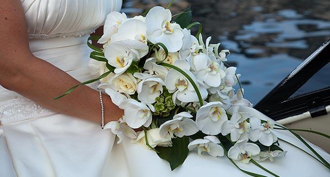 bouquet orchidee a cascata