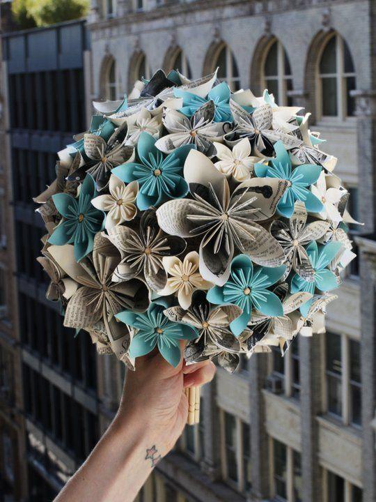 bouquet sposa origami