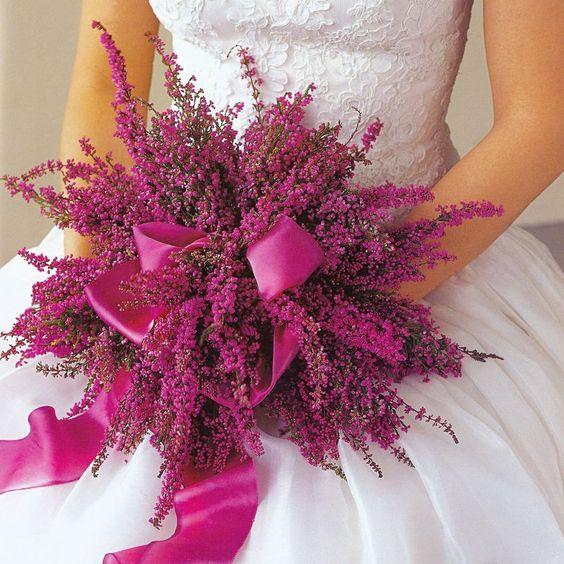 bouquet sposa fuxia foto