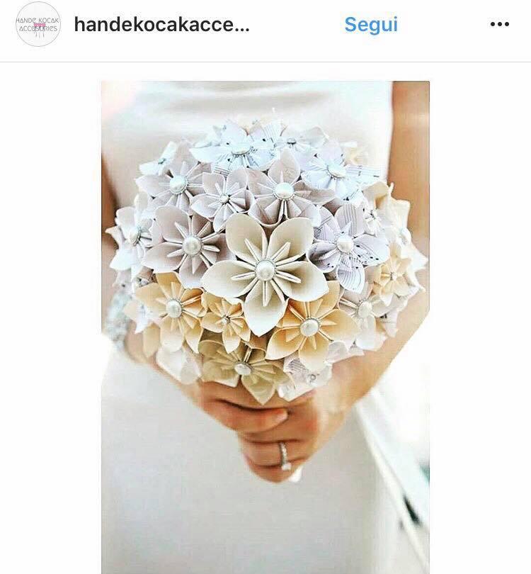 Bouquet Sposa Origami.Bouquet Sposa 2018 Carta Origami Smodatamente