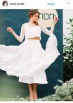 vestiti sposa 2018 croptop