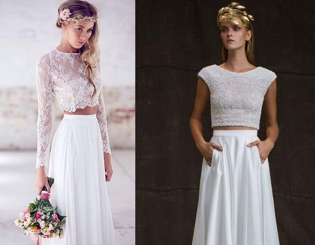 vestiti sposa 2018 boho chic