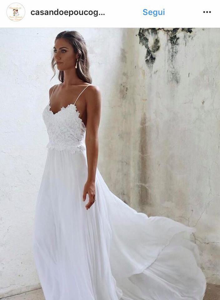 vestiti sposa 2018 spiaggia
