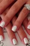 Manicure sposa 2017 nail art glitter