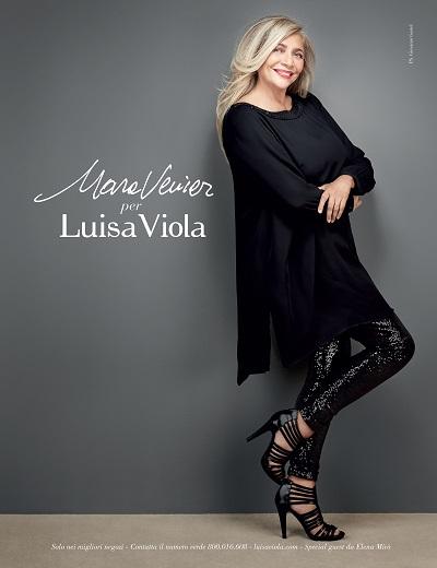 mara venier per luisa viola  collezione