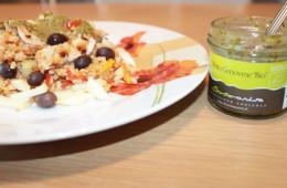 ricetta insalata ai 5 cereali integrali con Pesto Genovese Bio Sommariva