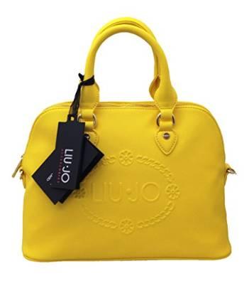 Nei toni sorbetto più vivaci questa handbag gialla con logo tridimensionale  saldi borse liu jo 2016 prezzi c02156e8370