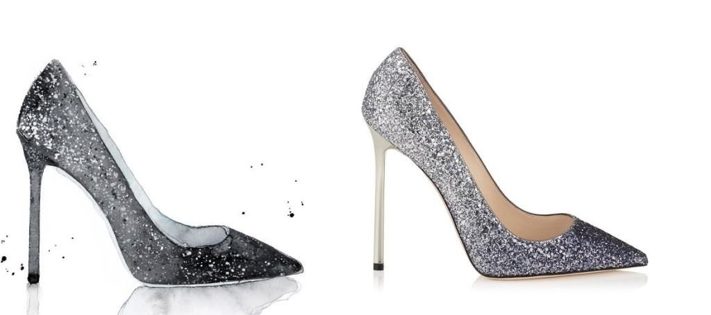 scarpe Jimmy Choo 2017 glitter