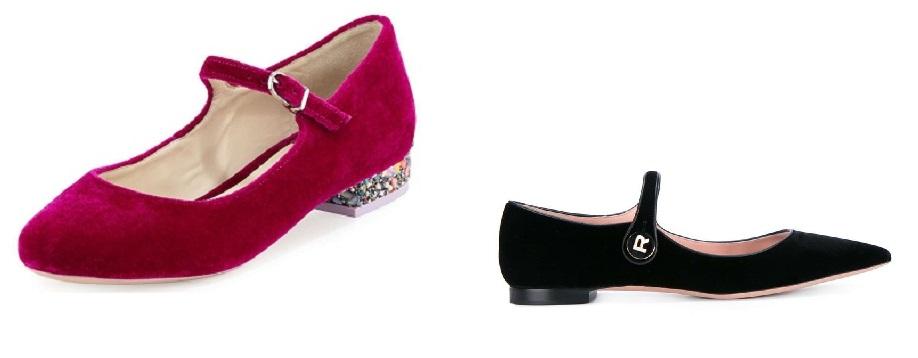 scarpe in velluto 2017 ballerine