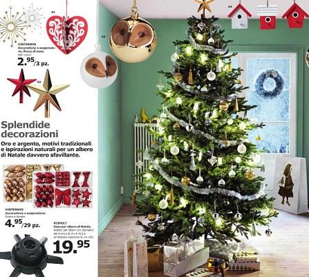 Alberi di natale 2017 decorazioni e idee di moda for Ikea natale catalogo 2017