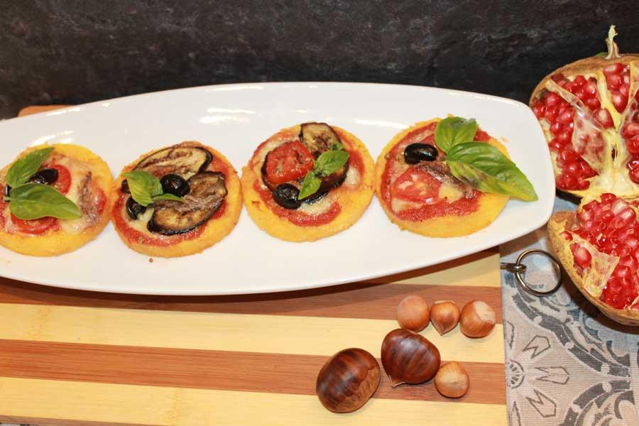 Ricetta pizzette di polenta con verdure
