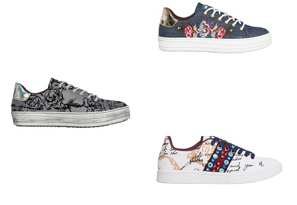 Scarpe desigual 2017 2018 catalogo stivali sneakers for Mondo scarpa catalogo