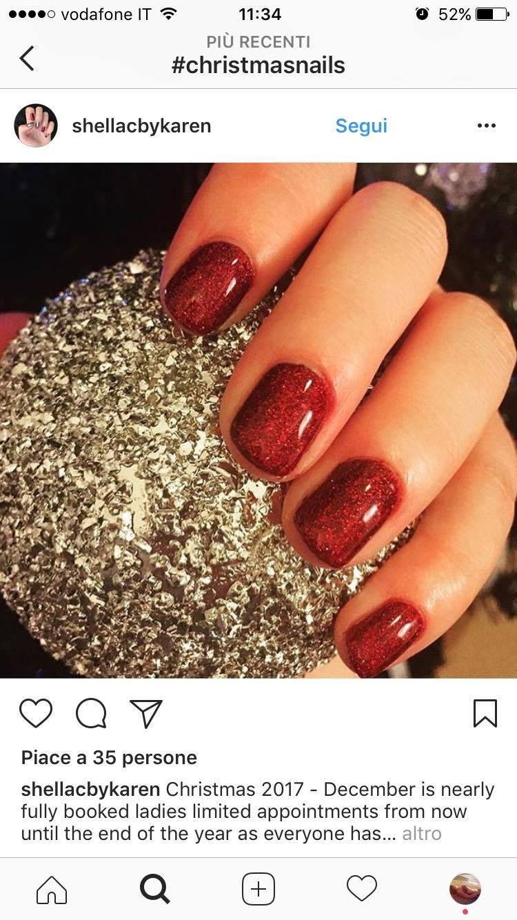 nail art natale 2017 eleganti