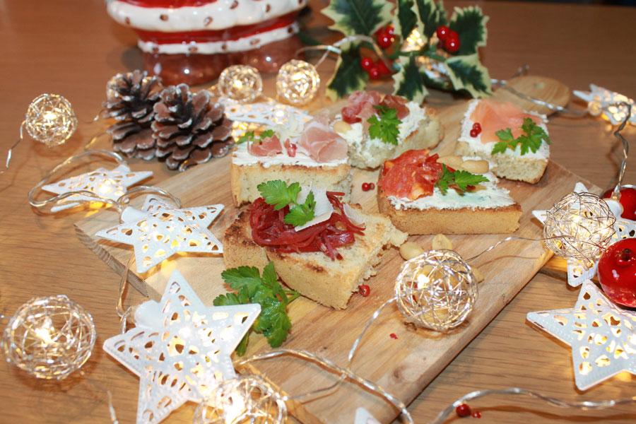 Ricette bruschette natalizie salate e dolci