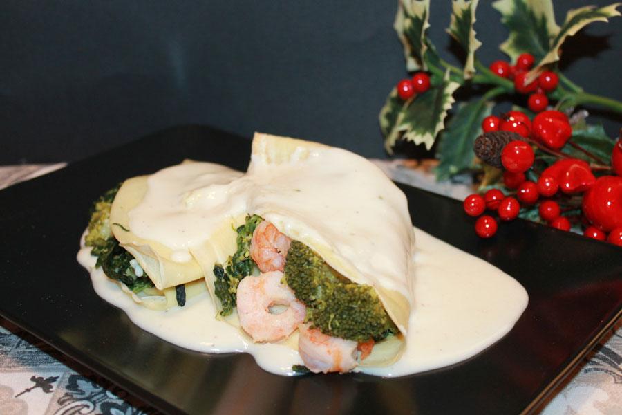 ricetta crespelle con farina di riso gamberetti e broccoli