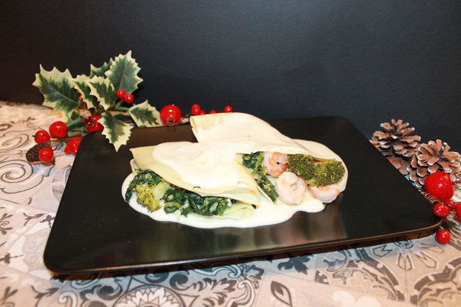 ricetta crespelle con farina di riso verdure e gamberetti