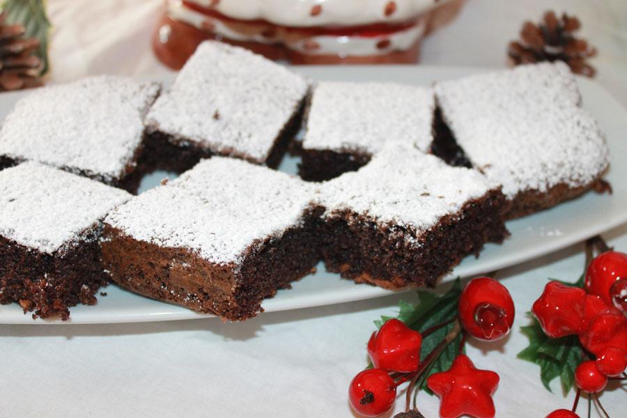 Ricetta mattoncini morbidi con cioccolato e arachidi caramellate