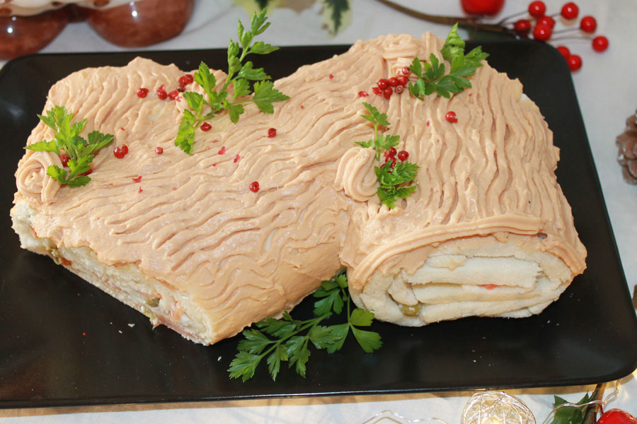 Ricetta tronchetto di Natale salato antipasto