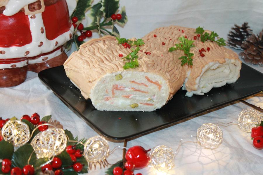 Ricetta tronchetto di Natale salato