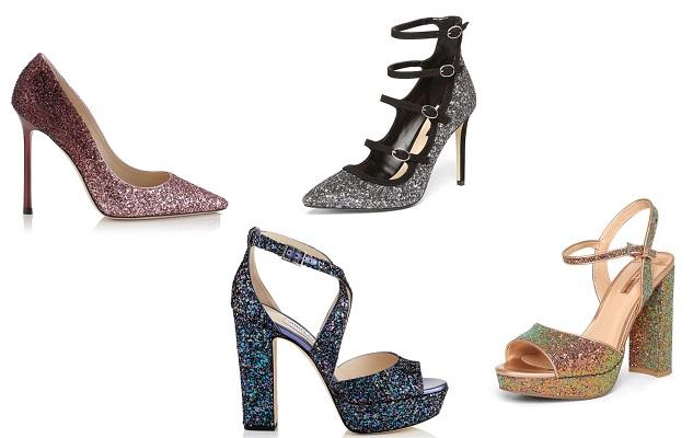 scarpe capodanno 2017 glitter