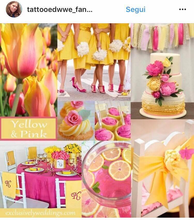 colori matrimonio 2017 rosa