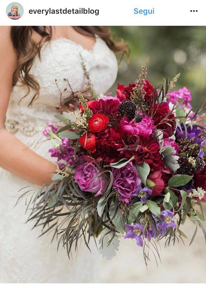 Tendenze colori matrimonio 2018 bouquet