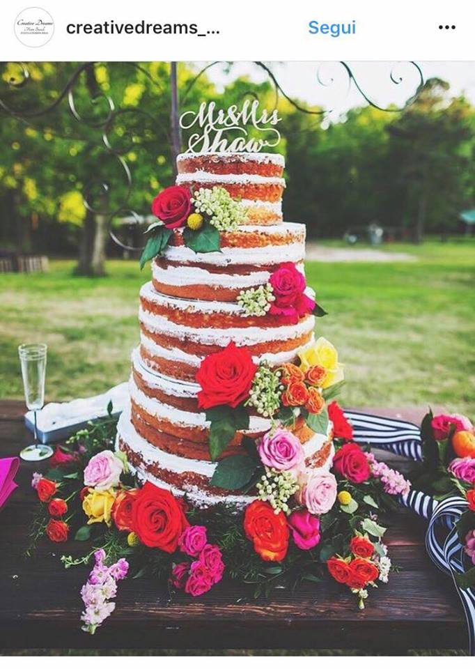 Tendenze colori matrimonio 2018 torte