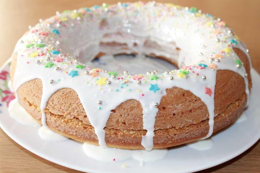 ricetta giant donut cake ripiena
