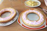 ricetta giant donut cake, torta donut gigante ripiena