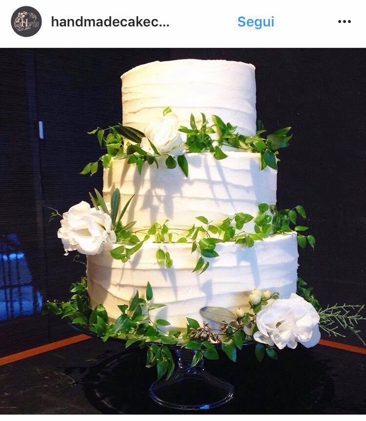 matrimonio greenery torta