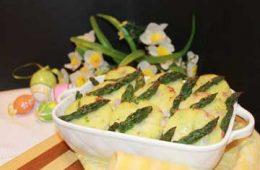 ricetta gnocchi alla romana con asparagi verdi prosciutto cotto