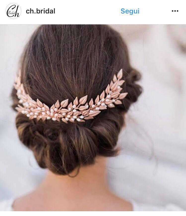 Acconciatura sposa moda 2019